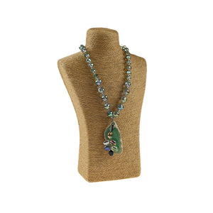 Image 5 - 29*18cm liny konopne pcv portret stojak wystawowy na naszyjnik uchwyt biżuteria manekin biust szyi stojak wystawowy na biżuterię