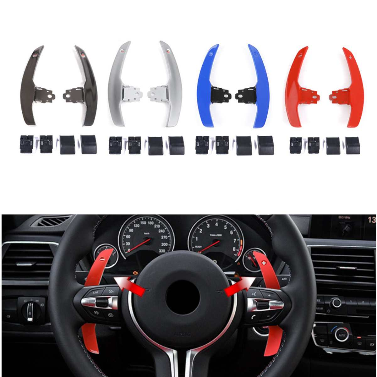 Steering Wheel Paddle Shifter Extension Replacement For BMW F20 F22 F31 F34 F35 F30 F32 F10 F18 F11 F07 F12 F02 F15 F16 F25 F26