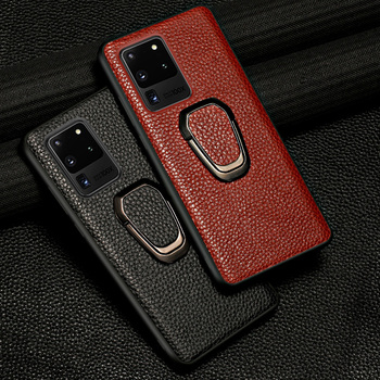 Genuine Leather Case For Samsung Galaxy S20 Ultra S20 FE S8 S9 S10 Plus Note 20 10 9 M31 M51 A21S A50 A70 A71 A51 2020 Magnetic