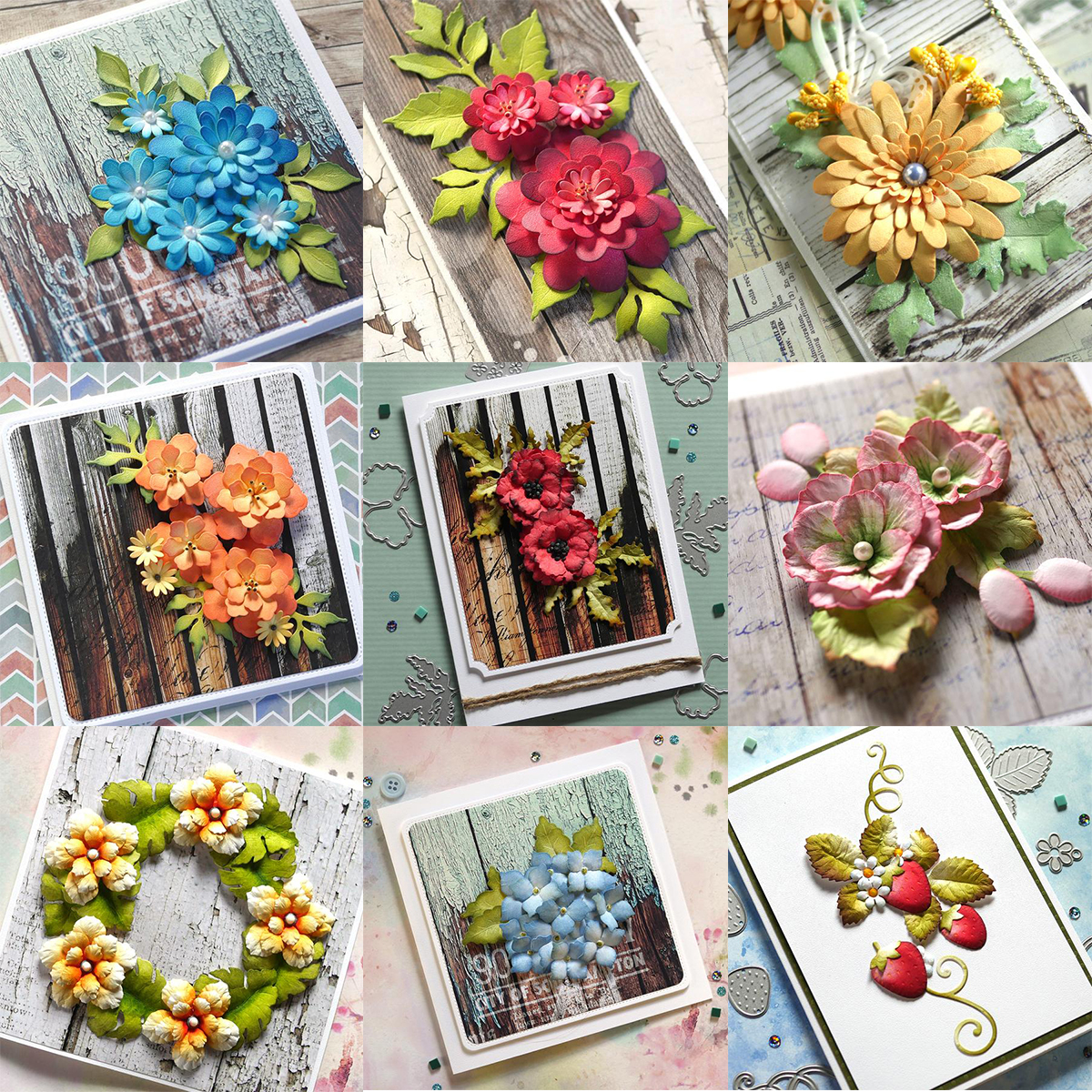 Flowers leaf set paper cut metal craft dies card making stencils diy manual blossom scrapbooking new Embossing dies 2021