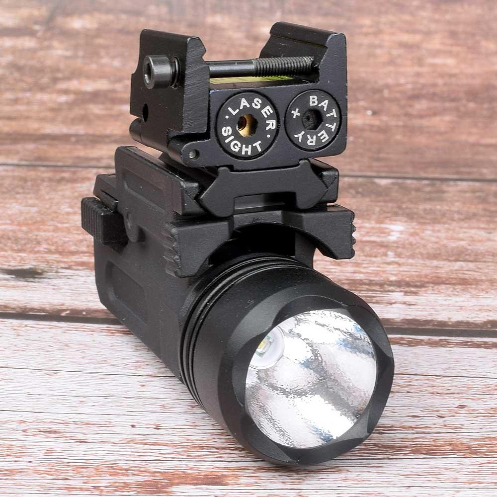 Point rouge Laser vue tactique Picatinny Weaver Rail montage 20mm pistolet pistolet Compact torche lumière LED fusil Glock pistolet Flash