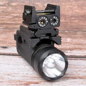 Red Dot Laser Sight Tactical Picatinny Weaver Rail Mount 20mm Pistol Gun Compact  Torch Light LED Rifle Glock Gun Flash Light