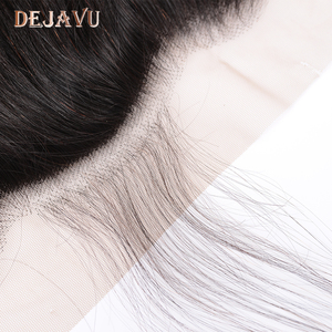 Image 5 - Dejavu ישר שיער טבעי 3 חבילות עם פרונטאלית ברזילאי שיער 13*4 תחרה פרונטאלית סגר עם חבילות שאינו רמי הארכת שיער