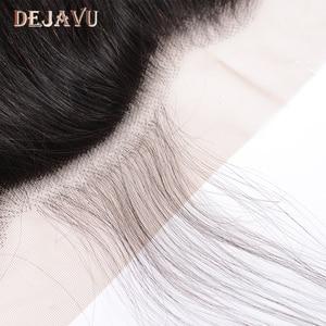 Image 5 - Dejavu cheveux humains droits 3 paquets avec cheveux brésiliens frontaux 13*4 fermeture frontale en dentelle avec faisceaux Extension de cheveux non remy