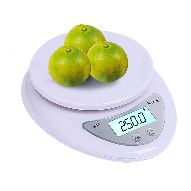 5kg/1g LCD Digital Scale For Kitchen Food Precise Portable Cooking Scale Baking Scale Balance Measuring Weight Libra LED Postal