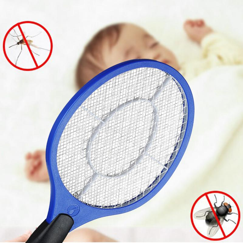 Mosquito Swatter Killer Insect Racket Pest Bug Fly Wasp Mosquito Rechargeable Electric Swatter Zapper Killer Home Garden Gadgets