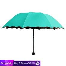 Дорожный зонтик складной дождевой ветрозащитный зонтик складной Анти-УФ солнце/дождь зонтик складной мини Солнечный зонт@ 28