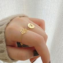 Женское регулируемое кольцо с буквами и сердечками ювелирное