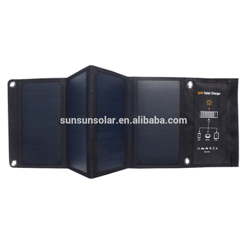 цена на SUNSUN Dual USB quick charging for phone SunPower cell 28W foldable portable solar mobile phone charger