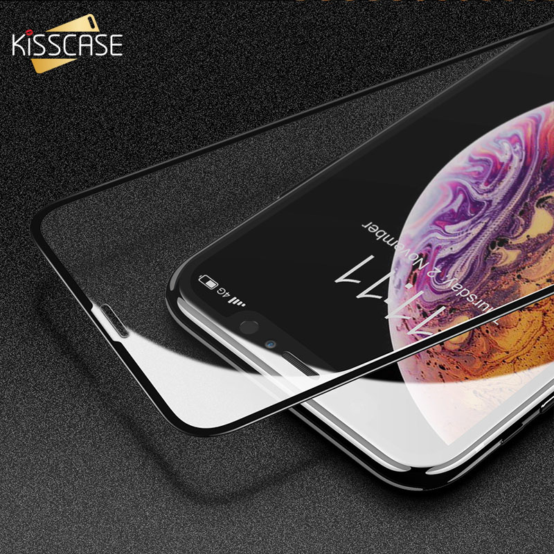 KISSCASE 2PCS Screen Protector For IPhone XS XR X 8/7 Plus Glass Protective Glass For IPhone XR XS X 10 6 6S 7 8 Tempered Film
