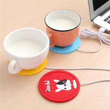 Cute Cartoon 5V USB Warmer Silicone Heat Heater for Milk Tea Coffee Mug Hot Drink Beverage Cup Mat Kitchen Tools Heater Dropship(China)