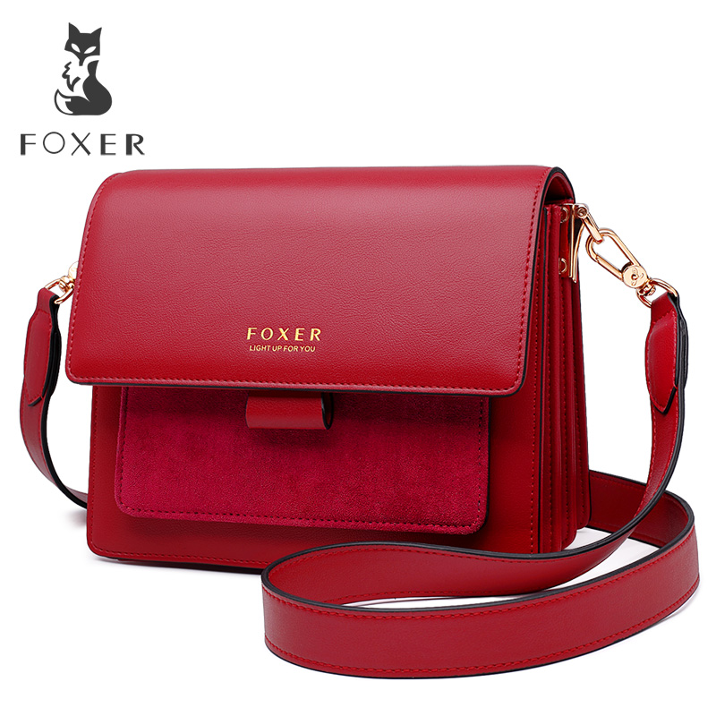FOXER Bags Woman Flap Messenger-Bag Crossbody-Bag Shoulder-Strap Female Lady Gift Valentine's-Day-Present