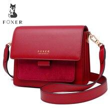 FOXER Women Crossbody Bag Shoulder Strap Bags Woman Shoulder Bag Lady Flap Female Messenger Bag Valentine's Day Present Gift