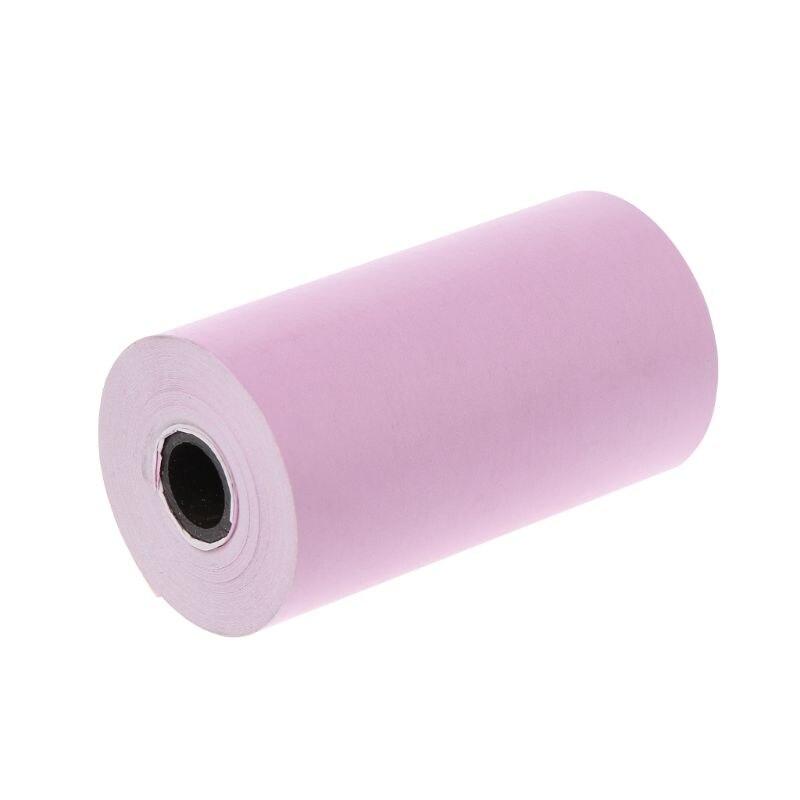 Фотобумага Мини Печать наклеек рулон термопринтеры прозрачная печать Smudge-Proof портативный - Цвет: Color Paper-random
