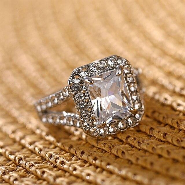 Square AAA Australian Crystal Rings 4