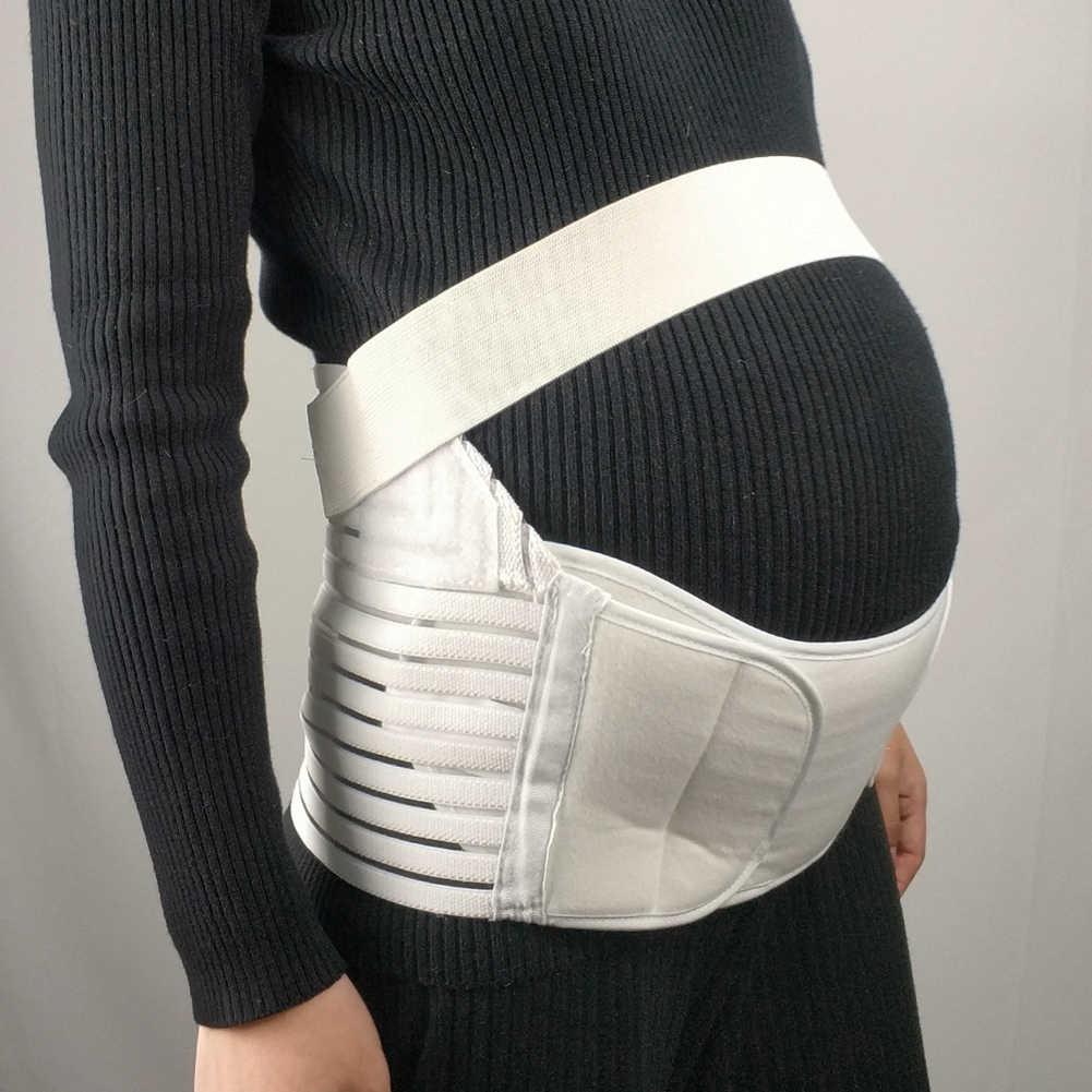 Breathable Pregnancy Back Abdominal Waist Band Support Maternity Belt Strap Breathable elastic adjustable waist fishnet mesh