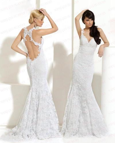 2018 New Design Sexy Backless Long Custom Size/color Mermaid Lace Bridal Gown Formal Strap Vestido De Noiva Bridesmaid Dresses