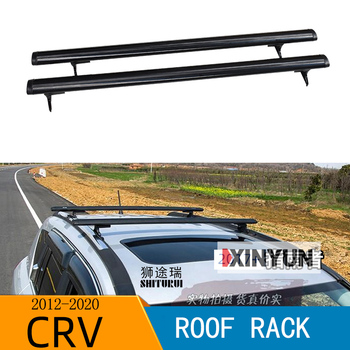 SHITURUI 1 Pair Black Side Rails Car Roof Rack Cross Bars Crossbars for Honda CRV 2012-2020 132 LBS 60KG Mounted On Car Rooftop image