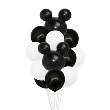 12pcs Mickey Minnie Mouse Foil Balloon Pink Blue Latex Balloon Baby Shower Happy Birthday Party Decoration Kids Toy Cartoon Gift