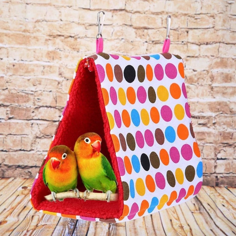 Bird Cage Plush Warm Shed Cage Bed Bed Bed Parrot Hole Peony Parrot Small Sun Hammock Bird Nest Warm Thick Triangle Birdhouse 40 Bird Cages Nests Aliexpress