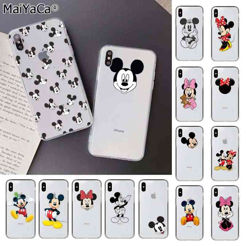 Maiyaca Mouse Fundas Phone Case Cover untuk Apple Iphone 11 Pro 8 7 66S Plus X XS Max 5S se XR Cover