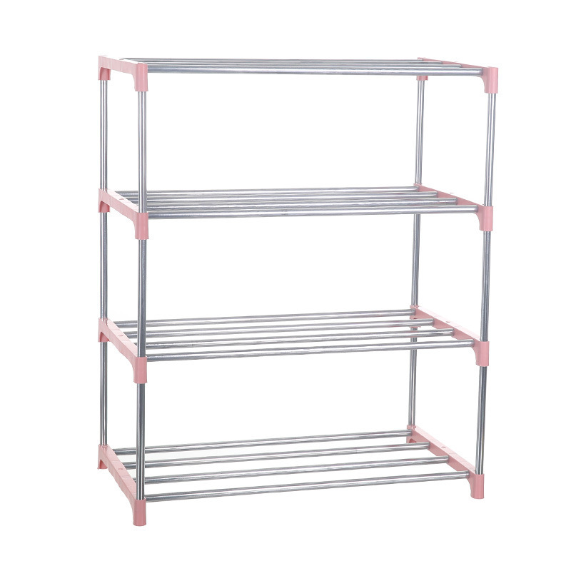 Simple Multi Layer Shoe Rack Stainless Steel DIY Storage Shoe Cabinet Shoe Rack Hanger Home Organizer Accessories Home Furniture