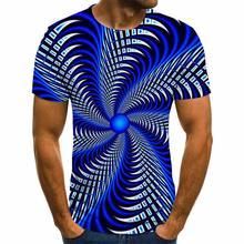 Новинка 2020 футболка с трехмерным графическим рисунком мужские