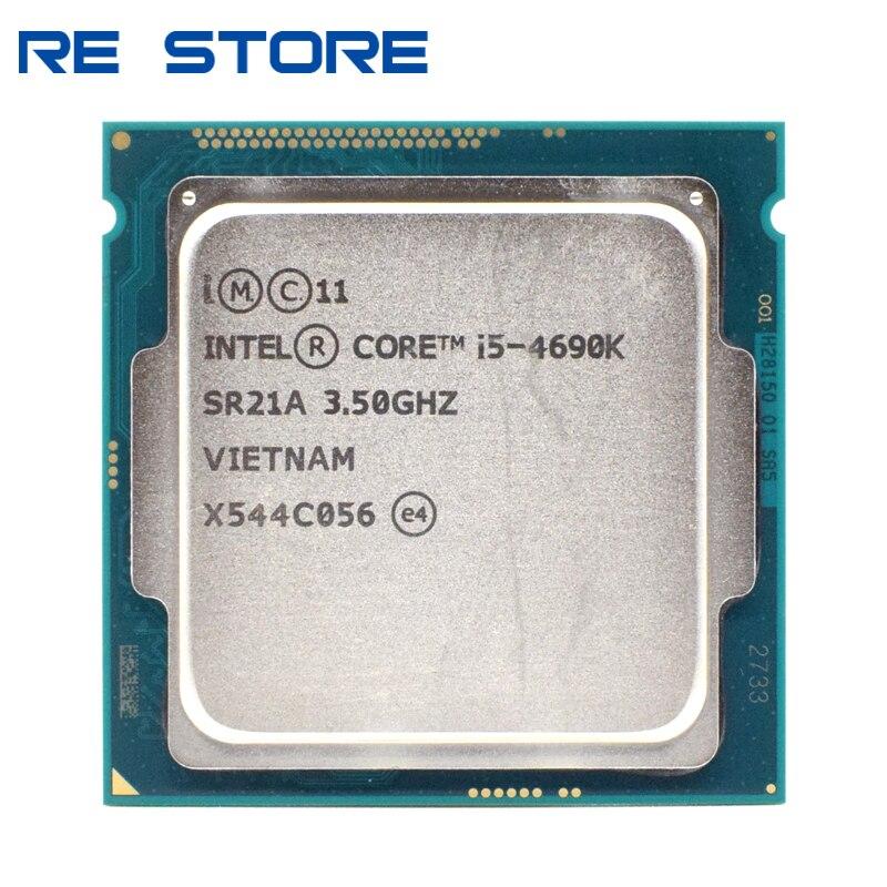 Б/у процессор Intel Core i5 4690K 3,5 ГГц 6 Мб разъем LGA 1150 четырехъядерный процессор SR21A Процессоры      АлиЭкспресс