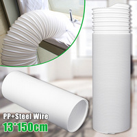 130*1500mm PP Portable Universal Exhaust Hose Universal Type Mobile Air Conditioning Telescopic Exhaust Pipe
