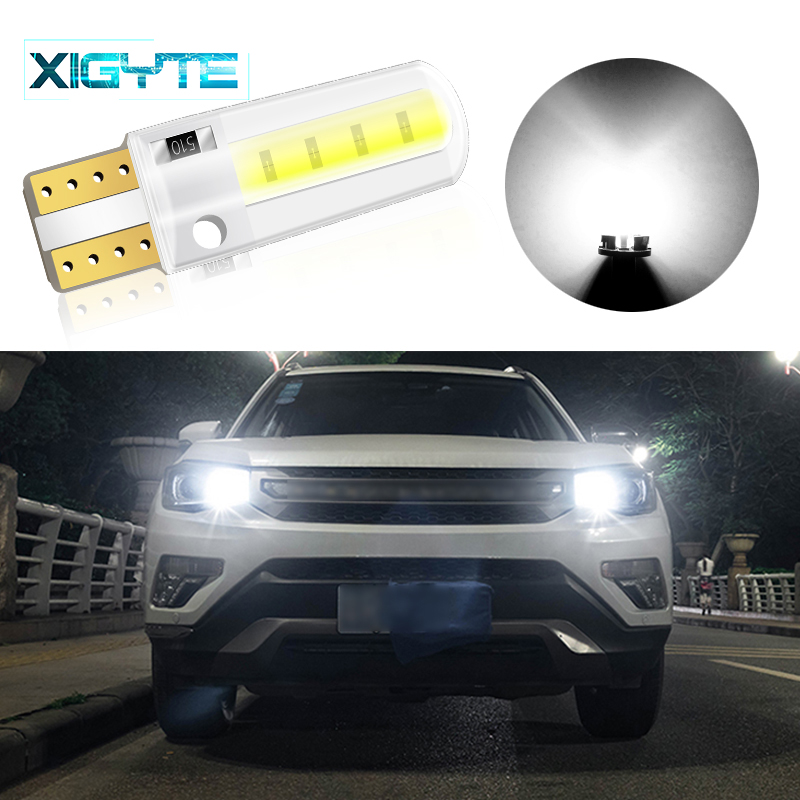 1pcs Silicone LED Car Interior Lamp DC 12V T10 W5W Wedge Side Parking Lamp Clearance Light COB LED Auto Reading Bulb Signal Lamp