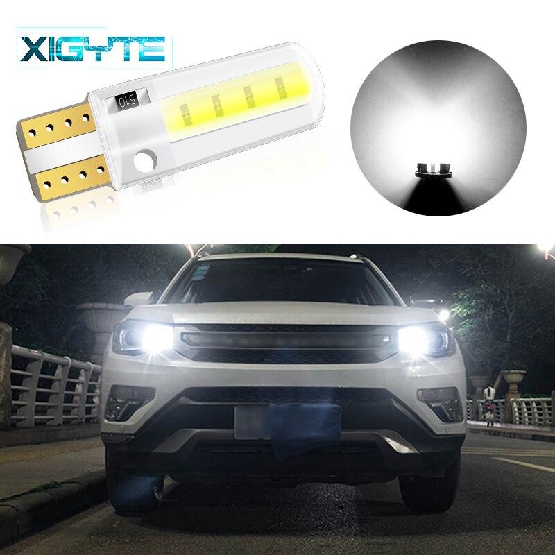 1pcs Silicone LED Car Interior Lamp DC 12V T10 W5W Wedge Side Parking Lamp Clearance Light COB LED Auto Reading Bulb Signal Lamp