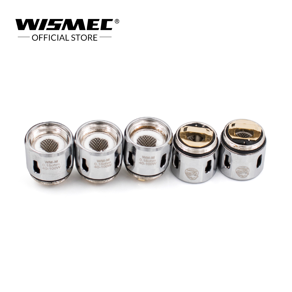Original wismec WM01 Single 0.4ohm /WM02 Dual 0.15ohm  /WM03 Triple 0.2ohm/WM-M Coil head for Gnome Kit
