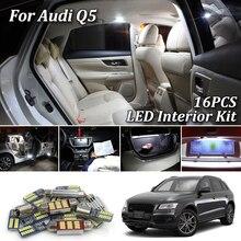 16X белые светодиодные с CANBUS салона комплект ламп для Audi Q5 8R 8RB 2008- светодиодный автомобиль купол карту интерьер светильник комплект