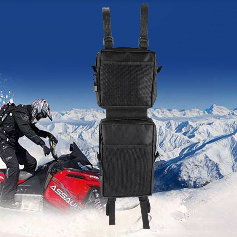 2pcs/set Waterproof Cargo Storage Hunting Fenders Side Bags ATV Tank Saddle Bags UTV 4-Wheeler Universal Motorcycle Mudguard Pou
