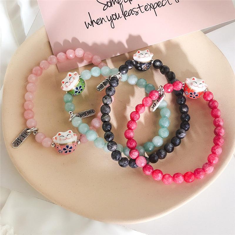 handmade lucky cat fashion bracelet gift chain 8