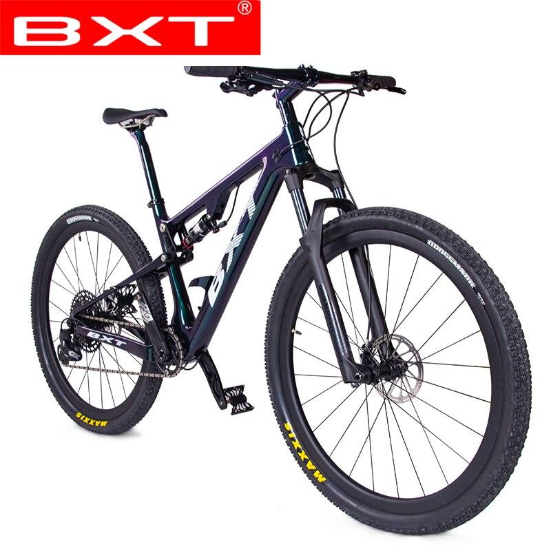 BXT полностью углеродный подвесной горный велосипед 29er 148*12 мм Boost S/M/L/XL 1*12s спортивная подвеска полный велосипед
