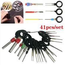41 pces/38 pces kit de remoção de terminais do carro auto pino fio conector extrator automotivo plugue elétrico crimp extrator ferramenta reparo do carro