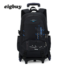 Removable Boys Trolley Backpack Schoolbag Children Orthopedic Backpack Boys School Backpack Kids Travel Bag Mochila Infantil недорого