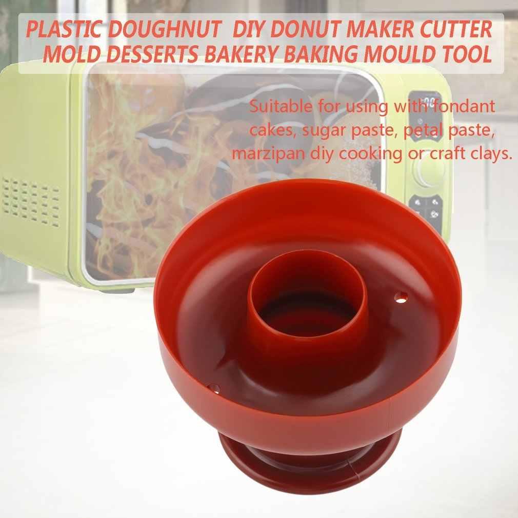 1 pc プラスチック食品グレードドーナツドーナツ型パンデザートベーカリー金型ホーム diy ドーナツカッターメーカー金型ツール