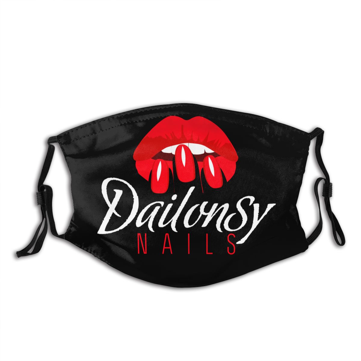 Nail Salon Beauty Red Lips Reusable Face Mask Anti Haze Dust Mask With Filters Protection Cover Respirator Mouth Muffle
