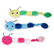 цена Plush Stuffed Pet Dog Toys Sound Cute Longworm Chew Squeak Toys for Dogs Teeth Cleaning Cats Dog Product interactive Chewing Toy