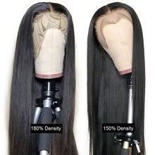 Wigs Lace-Frontal Human-Hair Malaysian Alipanda Black Straight Women 4X4 5X5