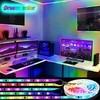 RGB LED Streifen Lichter WS2811 Traum streifen led streifen 5050 KEINE Wasserdichte Regenbogen wirkung RGB Jagen Multicolor Wirkung fernbedienung