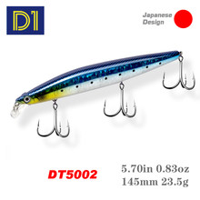 D1 assasin 145mm 23.5g minnow wobbler isca de pesca suspensão balanço curso especial gravidade sistema jerkbait isca pesca