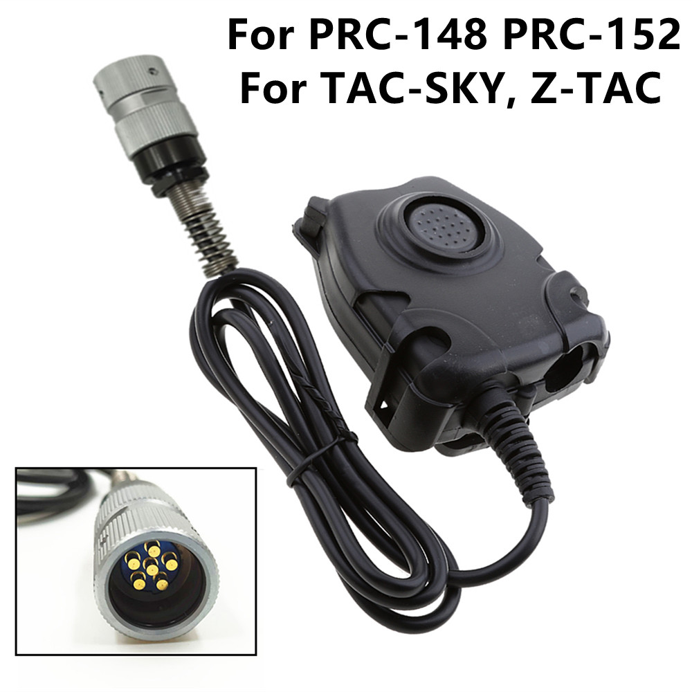 For Z-tac Peltor  Headset Adapter For AN/PRC152 PRC148 Dummy Case 6 Pin Military Headset Plug PTT