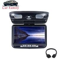 Monitor para coche de 9 pulgadas  montaje en techo abatible hacia abajo  pantalla LED Digital  reproductor de DVD  USB  SD  MP5  IR  FM  transmisor de altavoz y juego