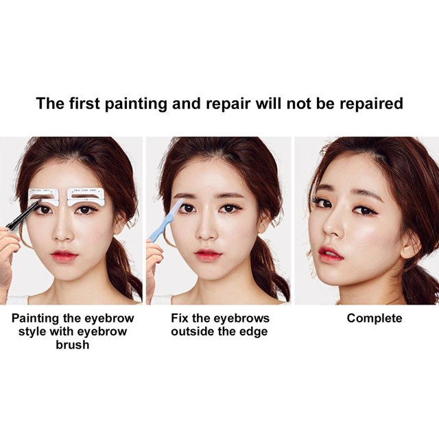 Stickable Artifact Thrush Aid Card Eyebrows Mold Thrush Card 8 Pairs Eyebrow Makeup Tools Makeup Accessories 1
