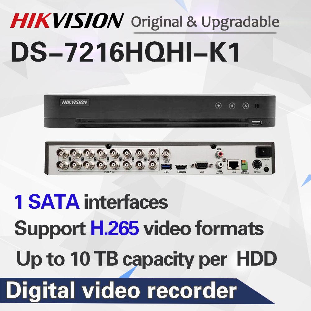 <font><b>Hikvision</b></font> <font><b>16CH</b></font> Max Unterstützung 6MP Turbo HD <font><b>DVR</b></font> Video Recoder 5 in 1 für HDTVI/AHD/CVI/ CVBS/IP video eingang H.265 pro + DS-7216HQHI-K1 image