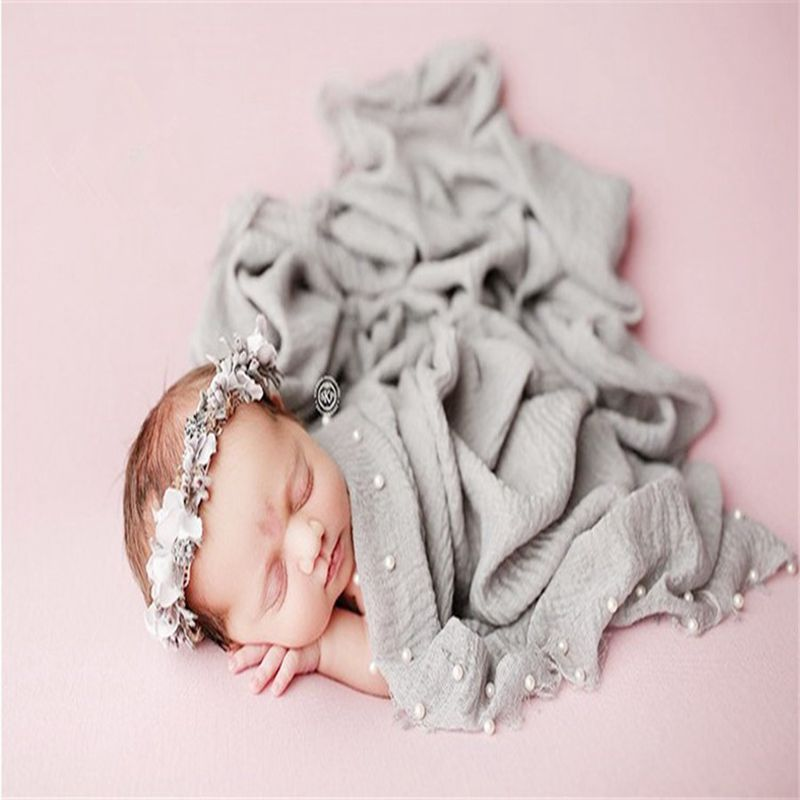 Newborn Photography Props Photo Baby Summer Cotton Linen Wrap  CHD10148