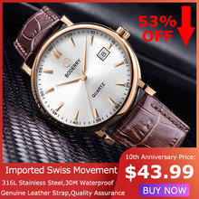 Top Brand Luxury Watch Men Swiss Quartz Movement Analog